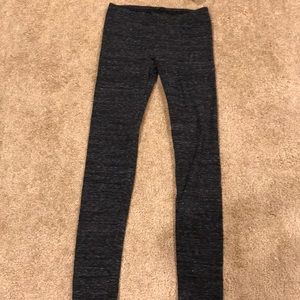Heather charcoal gray leggings